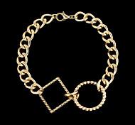 Hot Sale Gold Plated Simple Women Latest Chain Bracelet