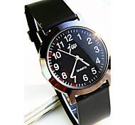 semplice banda di plastica quadrante rotondo orologi al quarzo moda squisita della coppia
