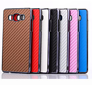 Carbon Fiber Pattern Plating Border PC Back Cover Case for Samsung Galaxy A5 (Assorted Colors)