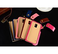 Lanyard Card PU Leather Case with Kickstand for Samsung Galaxy S5/I9600 (Assorted Colors)
