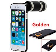apexel 4 en rosca 8x / ángulo 1 teleobjetivo lente ojo de pez / ancho&kit lente macro con el caso trasero para el iphone 6 más