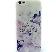 La vita è bella Parole fiori modello ultra caso TPU per il iphone 5c