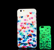 Heart Pattern Glow in the Dark Cover for iPhone 6 Plus Case