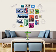 Special Vintage Stamp PVC Wall Stickers Wall Art Decals