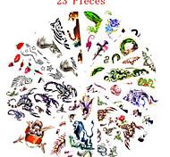 Tatuajes Adhesivos - Non Toxic/Modelo/Waterproof - Series de Animal/Series de Flor/Otros - Mujer/Hombre/Adulto/Juventud - Multicolor -