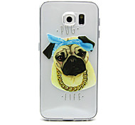 For Samsung Galaxy Case Ultra-thin / Transparent / Embossed Case Back Cover Case Dog TPU Samsung S6