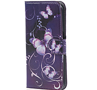 Purple PU Leather Case Cover with Stand and Card Slot for Samsung Galaxy S6 Edge G925