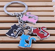 Leisure unisex alloy key chain lovely multicolor pet key chain