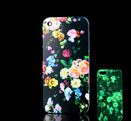 Flower Pattern Glow in the Dark Cover for iPhone 4 / iPhone 4 S Case