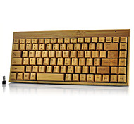 verde&eco-friendly A4Tech wireless 2.4GHz com receptor pc bambu keybord