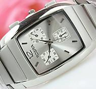 Herren-Wärmequadratscheibe Business-Mode Quarz-Uhren
