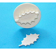 FOUR-C Large Holly Leaf Gum Paste/Fondant Plunger Cutters,Classic Cake Decorating Supplies 1pcs