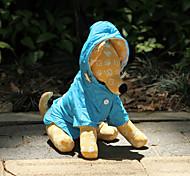 Hunde Regenmantel Blau / Orange / Rose Hundekleidung Frühling/Herbst einfarbig Wasserdicht