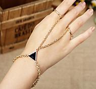 HUALUO®One-Piece Black Metal Triangle Bracelet