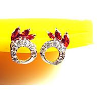 High Quality Fashion Women Big Circle Zircon Earrings