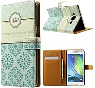 For Samsung Galaxy Case Card Holder / with Stand / Flip / Magnetic / Pattern Case Pochette Case Tile PU Leather Samsung A5