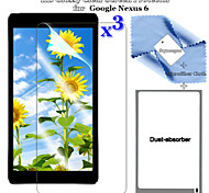 3in1 Premium HD Glossy Clear LCD Screen Protector Flim with Cleaning Cloth Set for Google Nexus 6