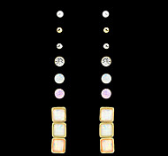 2015 Fashion Trends Wholesale  Colorful Gemstone Earrings Set