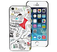 Papier Städte Design PC harter Fall für iphone 5/5 s