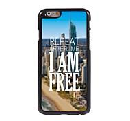 I am Free Design Aluminum Hard Case for iPhone 6