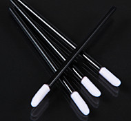 50 Pieces Perfect Disposable Lipstick Gloss Make-up Brush with Black Stick