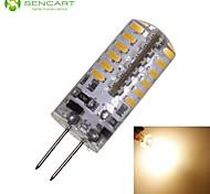 SENCART Lâmpadas Espiga Decorativa G4 3W 280-320 LM 3000-3500 K Branco Quente 48 SMD 3014 1 pç DC 12 / AC 12 V T