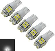 JIAWEN® 5pcs T10 1.2W 20X3528SMD 85LM 6000-6500K Cool White Inverted Side Wedge Light LED Car Lights (DC 12V)