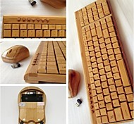 Green&eco-friendly 2.4GHz Wireless A4TECH Bamboo Office Essential Mouse & Bamboo Keybord