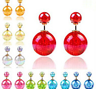 Square Colorful Candy Earrings