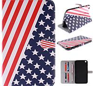 el diseño de la bandera americana de la PU cuero caso de cuerpo completo con soporte y ranura para tarjeta para samsung galaxy tab 3 8.0