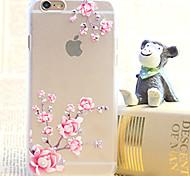 Diamond Plum Blossom Painting Transparent Plastic Case for iPhone 6