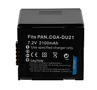 2100mAh Camera Battery Pack for PANASONIC VW-VBD210/CGA-DU21