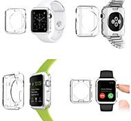 copertura custodia protettiva tpu colore trasparente per Apple iWatch (38 mm)
