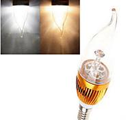 dingyao Lâmpada Vela E14 12 W 380 LM 2800-3500/6000-6500 K Branco Quente / Branco Frio LED de Alta Potência 1 pç AC 85-265 V