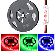 HML Non-Waterproof 72W 300-SMD 5630 LED Red/Green/Blue Light Strip - w/ HML Mini controller (DC 12V / 5m)