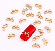 10PCS Gold Nail Art Jewelry Golden Infinity Rhinestone Aryclic Nail Tips Decorations Nail Art Glitters