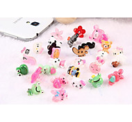 Cute Cartoon Dustproof Plug Style for iPhone and iPad (Random Colors)