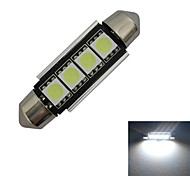 Luces Decorativas Festoon 4 SMD 5050 80-90lm LM Blanco Fresco DC 12 V
