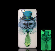 Animal Cats Pattern Glow in the Dark Case for iPhone 6 Cover