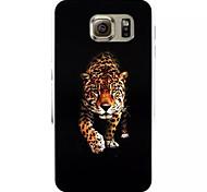 puissant motif léopard en plastique relief peint étui rigide pour Samsung Galaxy S6
