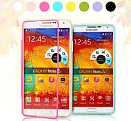 clamshell transparente fina triplo não virar caso de telefone de tela de toque para samsung galaxy nota 3 (cores sortidas)