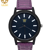 Men's Round Dial Casual Watch Leather Strap Quartz Watch Fashion Wrist Watch (Assorted Colors)
