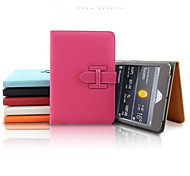 Wrist Strap Solid Color/Special Design PU Leather Smart Coversr for iPad Air 2 (Assorted Colors)