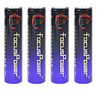 Focus Power 4.2V 10000mAh 18650 Rechargeable Lithium Ion Battery(4pcs)
