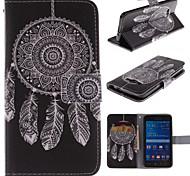 motif de dreamcatcher blanche cuir PU cas de tout le corps avec support et fente pour carte pour Samsung Galaxy grande Premier G530 g530h