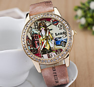 Women's Watches 2015 New Bohemia Hot Spicy Girl Car House Ladies Casual Leather Strap Watch Cool Watches Unique Watches