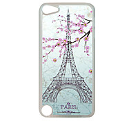 Sakura Tower Pattern Rhinestone Jewelry Hard Case for Ipod touch 5