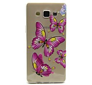 Pink Butterfly Pattern TPU Relief Back Cover Case for Samsung Galaxy A5