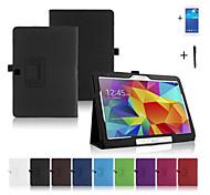 PU-lederner Folio faltbaren Fallabdeckung für Samsung Galaxy Tab 10.1 4 T530 + Film + Stylus
