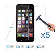 calidad caliente de la venta 5pcs vidrio templado protector de la pantalla de cine frente& detrás para el iphone de apple 6s / 6